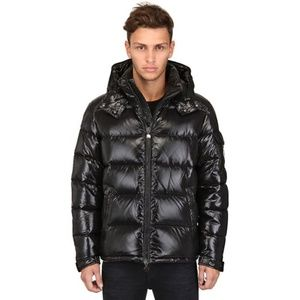 MONCLER mayla jacket in black shiny nylon